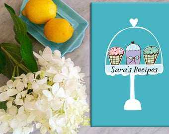 recipe journal, recipes, personalized recipe book