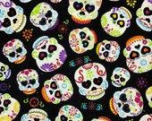 1 Yard of Sugar Skull Fabric as Shown in Listing
