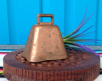 FREE SHIPPING-Vintage Rustic Copper Farm Animal Bell-Copper Cow Bell-Copper Goat Bell-Copper Sheep Bell-Farmhouse-Dinner Bell-Bohemian