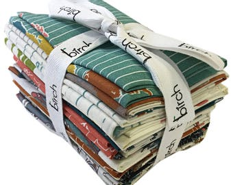 Birch Fabrics ORGANIC TRANSPACIFIC Fat Quarter Bundle 13 Precut Cotton Fabric Quilting FQs Jay-Cyn Designs
