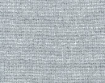 Robert Kaufman Fabric, Essex Yarn Dyed Metallic, E105-444 Fog, 50% Linen, #179