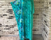 RESERVED FOR ANNETTE....Long Plus Size Lightweight Rayon Caftan