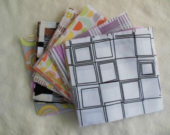 "40 Cotton Fabric Squares - 5"" x 5"""