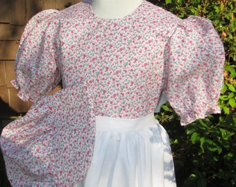 Laura Ingalls Pioneer Girls size 7/8 dress,Bonnet,and Apron (PLEASE read full details in ad with measurements)