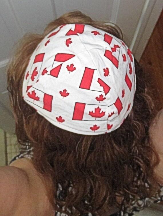 Jew Detector: Canadian Flag Kippah Patriotic Flag Of Canada Yarmulke Red