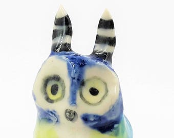 Blue Fairy Owl Figurine