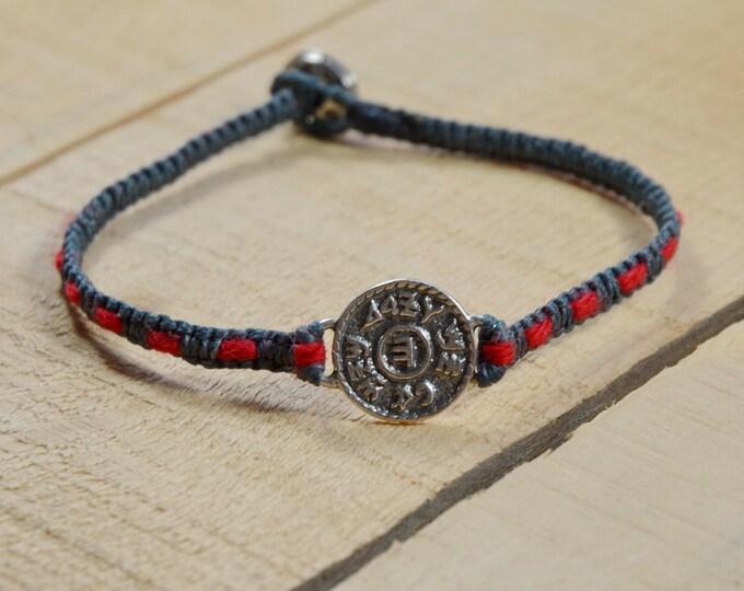 Prosperity Amulet Handwoven with Kabbalah Red String Bracelet