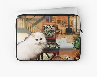 "Virgo Laptop Sleeve - StarCats Zodiac Astrology Collage - for 12"", 13"" and 15"" laptops - Cat Lover Gift for August September Birthday"