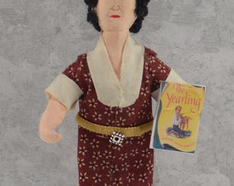 Marjorie Kinnan Rawlings Doll Miniature Writer of The Yearling Classical Literature American Author