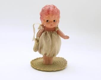 Vintage Celluloid Doll Big Eyed Doll Kewpie Doll