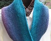 Ocean Depths Hand-knit Textured Cowl
