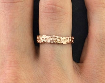 40% Off Rose Gold Vermeil Coral Ring  Ring  Nature Inspired Ring Design