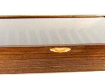 Handmade Fountain Pen and Rollerball Pen Display Case Black Walnut Wood