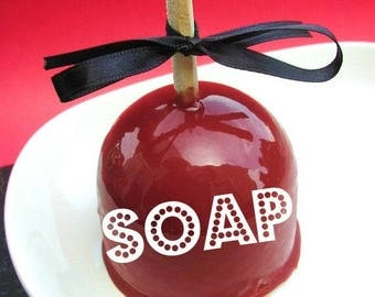 Coworker Gift. Women Gift. Stocking Stuffer. Gift for Her. CANDY APPLE SOAP. English teacher gifts. Teacher Appreciation. Caramel Apple Soap