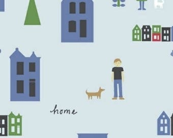 EXTRA20 20% OFF Neighborhood by Alyson Beaton for Windham Fabrics Houses Blue