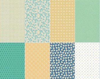 EXTRA15 30% OFF Calico Days Fat Eighth Panel Mint