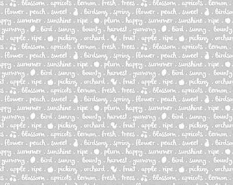 20EXTRA Riley Blake Designs Sweet Orchard Text Gray