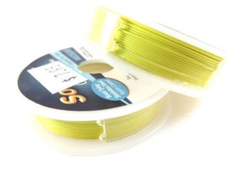 Yellow Medium SoftFlex Beading Wire Professional Quality 49 Strand .019 inch Clear Coated Stainless Steel - 10 ft - STORE