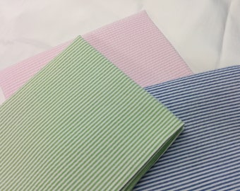 SEERSUCKER NAPKINS- Colors-  Navy blue, light blue, red,  lime, pink, yellow, Cotton,  wedding, shabby, southern style