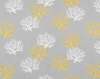 GREY and YELLOW Nautical Table runner- yellow and white coral reef, table Runner,Nautical Wedding Beach Destination Home Decor