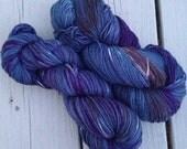 Hitchhiker's Highway - NEW hand dyed superwash Merino super soft wool blend sock yarn 462 yards 100 grams