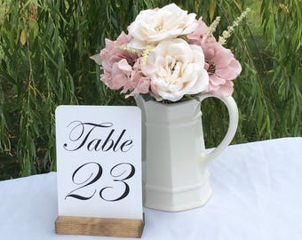 Rustic Wedding Table Number Holders (Set of 10) ON SALE