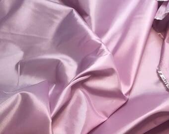 Orchid Pink - Faux Silk Taffeta Fabric - 1 Yard