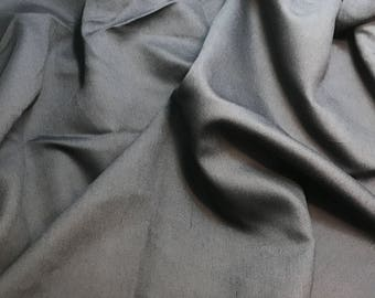 Charcoal Gray - Faux Silk Shantung Fabric - 1/3 Yard