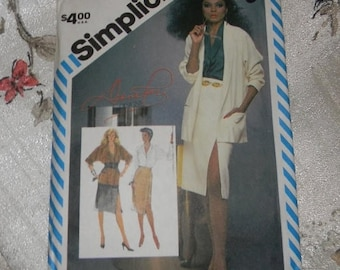 Christmas in July Simplicity Diana Ross Designs Pattern N 6326 Skirt, Blouse and Unlined Jacket Uncut, Size 10, Dated 1983