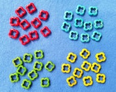 Dyed Magnesite Beads Howlite Beads, forty clover beads flower beads - red, blue, green, yellow
