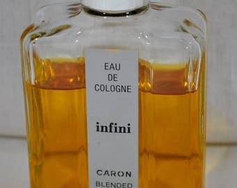 Vintage INFINI Eau de Cologne 4 fl oz, 120 ml by Caron  - old version - 1970s