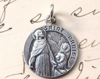ON SALE St Daniel Medal - Patron of military wives and prisoners - Antique Reproduction