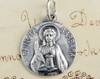 St Barbara Medal - Patron of architects, firefighters and against storms.