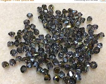ON SALE Iridescent Green 5328 Bicone Swarovski Crystal Beads 4mm