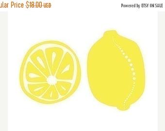 50% Off Summer Sale - Lemons Art Kitchen art - 8x10 Print - yellow