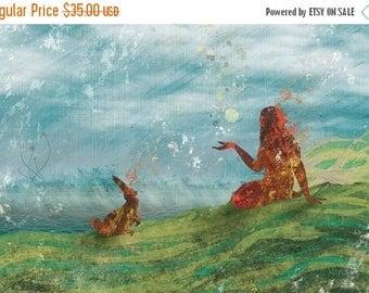 50% Off Summer Sale - Storytelling - 12x18 Print