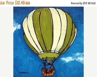 20% off Pot Belly Pigs in a Hot AIr Balloon Animal Art TIle Coaster Gift