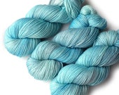 Hand Dyed Yarn Merino Nylon Sock Yarn, 433 yards, Frosty