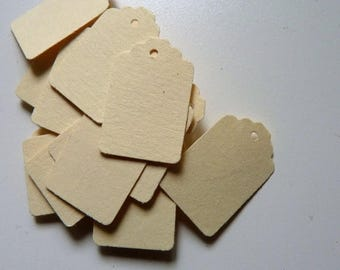 CLOSING DOWN SALE 25 small plain cream card price hang gift tags - also available in white card