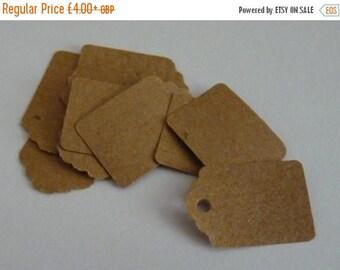 CLOSING DOWN SALE Medium plain kraft brown paper price hang gift tags