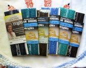 6X Vintage Lot of Rich, Deep Colored Flexi=Lace Seam Binding, Unopened, Vintage Sewing Trim