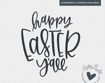 Happy Easter Y'all | Easter SVG | SVG Easter Designs | Easter Cut File | Easter SVG Files | Southern svg Design | Southern Easter