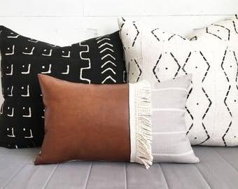 "Indie lumbar 12""x20"" pillow cover / modern / boho"