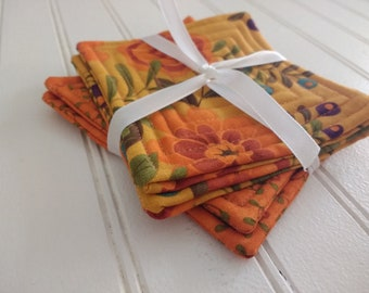Set of 4 Quilted Coasters - Perfectly Seasoned (Set 12)