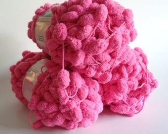Bernat Puff Ball Pink Breast Cancer Awareness