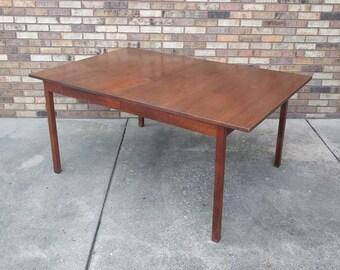 mid century MODERN walnut parsons style dining table
