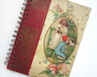 Sketchbook, Journal, Notebook, Recycled Book Journal, Vintage Book Journal,  Blank Book, Scamp and the Rats Victorian Child's Book Covers