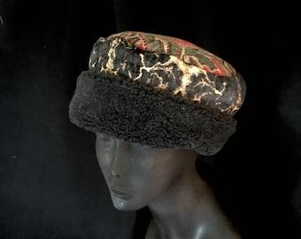 Reversible upholstery and fleece hat