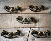 Hardware, Vintage Handles, Antique Hardware, Drawer Pulls, Brass Hardware, Antique Drawer Pulls, Brass Drawer Pulls, Vintage Drawer Pulls