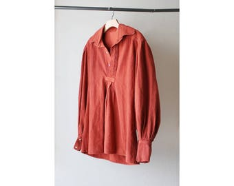 1960s Coral Cotton Shirt